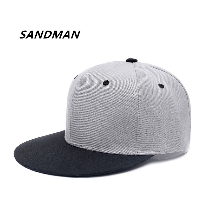 SANDMAN Adult Unisex Casual Solid Adjustable Baseball Caps Snapback Hats For Women Men Hip Hop Hat Sun Cap Bone Gorras cacuss new metal anchor baseball cap men hat hip hop boys fashion solid flat snapback caps male gorras 2017 adjustable snapback