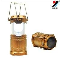 Bán Hot OEM Bán Giá Ngoài Trời Căng Ra Năng Lượng Mặt Trời Powered pin Led Cắm Trại Lantern Ánh Sáng Đèn như Ngân Hàng Điện