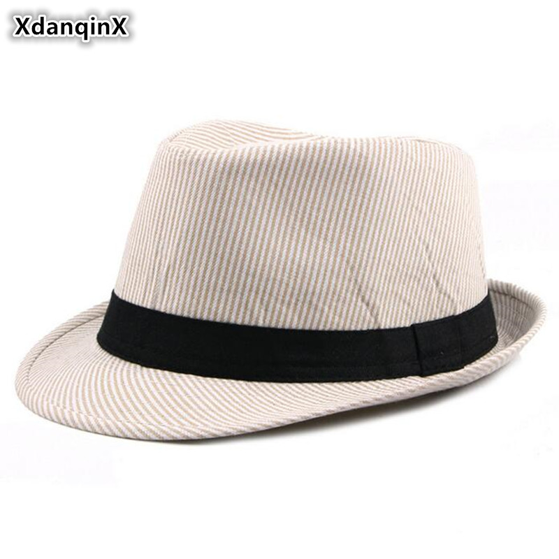XdanqinX Unisex New Simple Fashion Fedoras British Retro Men's Jazz Hats Classic Visor For Men Women  Dad's Hat Trend Couple Cap