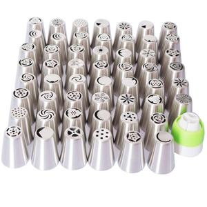 Image 2 - Byjunyeor boquillas de acero inoxidable para glaseado de repostería, 57 Uds., boquillas rusas, consejos de decoración de pasteles, herramientas para hornear pasteles, CS001