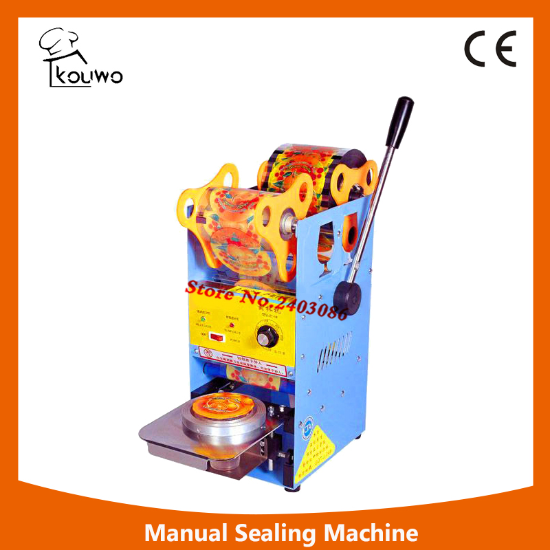 KW-D8 hand  sealing package machine for plastic cup food sealer machine for sales