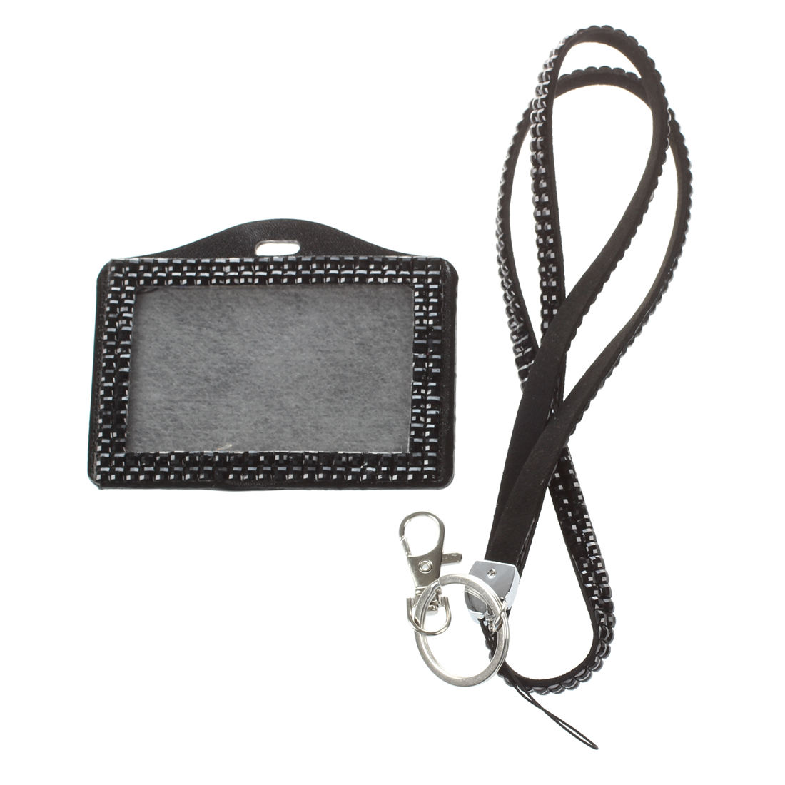 Luggage & Bags Nice Fggs-horizontal Resin Rhinestone Work Card Id Case Holder Lanyard Sling High Quality Materials