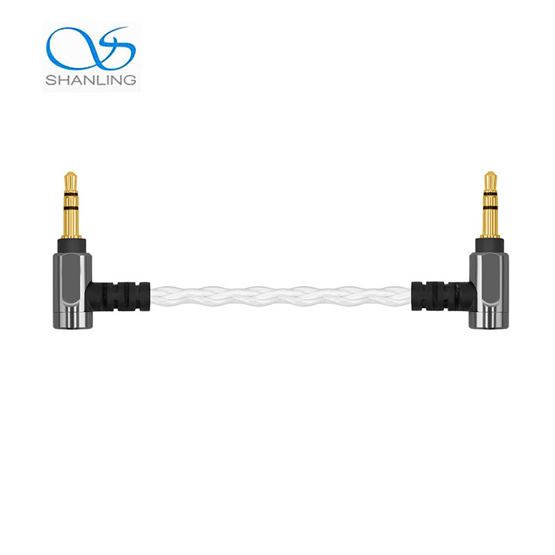 Shanling 3.5mm to 3.5mm Line Out Cable Silver Plated Copper Audio Cable 10mm For Earphone Amplifier M1 M2S DAP MP3 Player