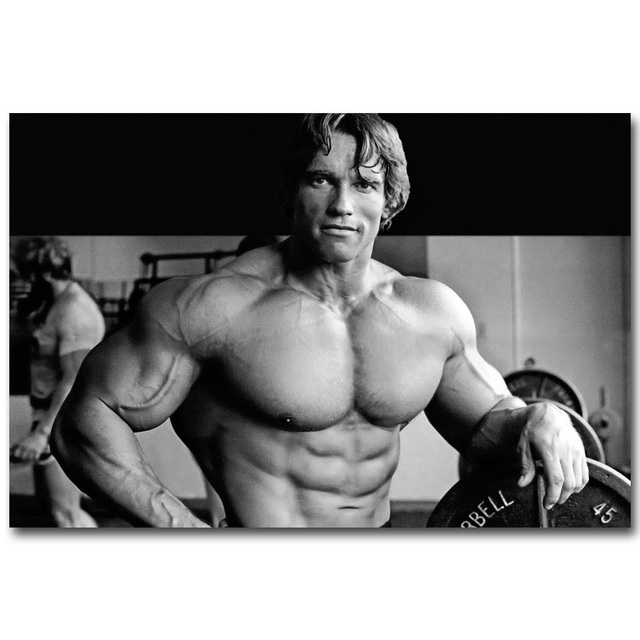 Arnold Schwarzenegger Bodybuilding Motivational Art Silk Poster Print  Fitness Inspirational Picture For Room Wall Decor 020