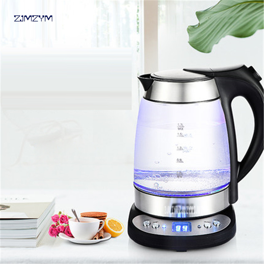 Electric kettle with thick glass curing pot of automatic temperature control Electric kettles 1.7L Underpan Heating MD-315T 220V kettle thermostat temperature control switch electric kettle accessory replaceme