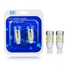 DXZ 2Pcs T10 W5W LED Lights 168 194 Car Wedge Side Bulbs Xenon White 6000K Auto Dome Door Map lights 5630 6SMD 10SMD DC12V цена