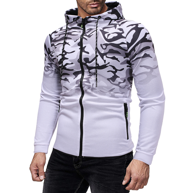 Stripe 3D Hoodie Stylish Hoodies Unisex color: Dark Grey Red White