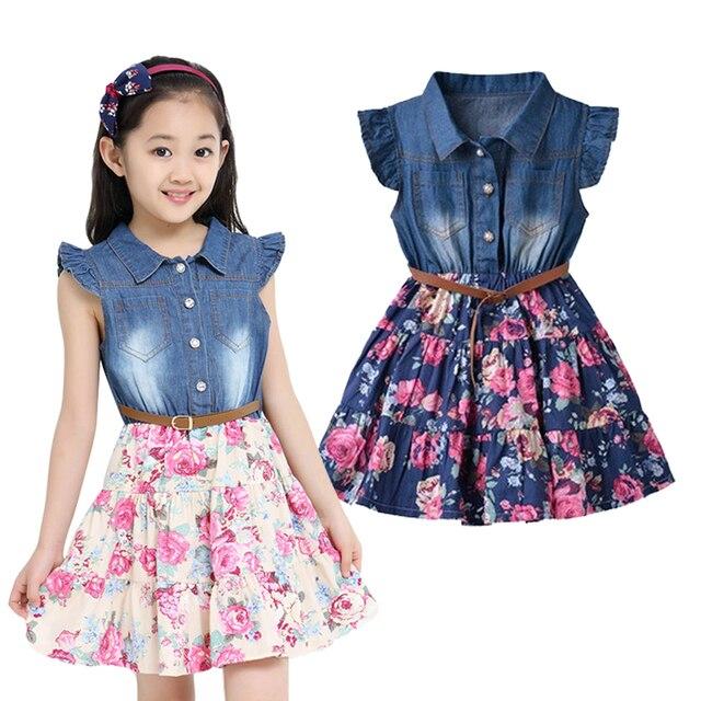 Aliexpress com comprar vestidos de verano para ni 241 as de algod 243 n de mezclilla ropa de los ni 241 os