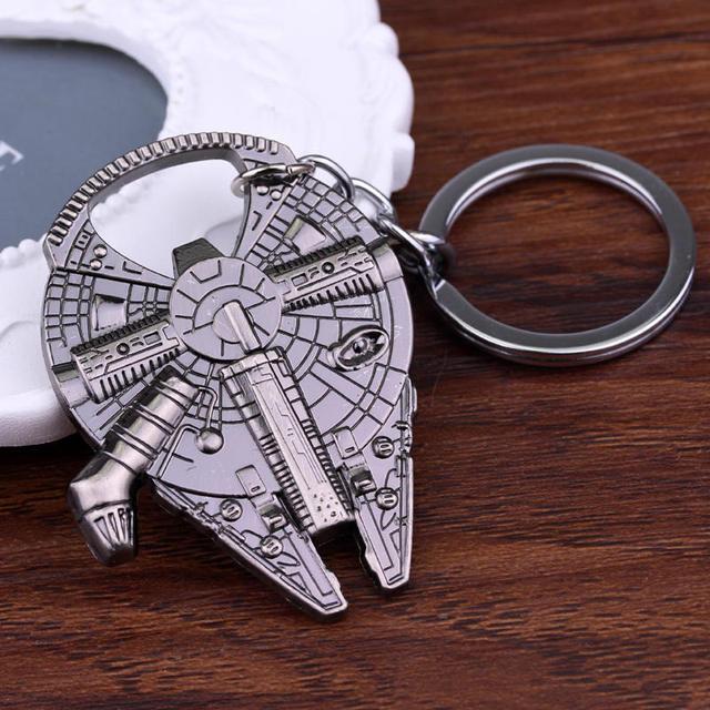 Free Shipping Star Wars Han Solo's Millennium Falcon ship barkey bottle opener Keychain
