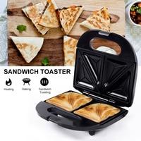 High Quality Sandwich Maker Full automatic Sandwich Toaster Stainless Steel DIY Waffle Panini Plate Breakfast Machine EU Plug