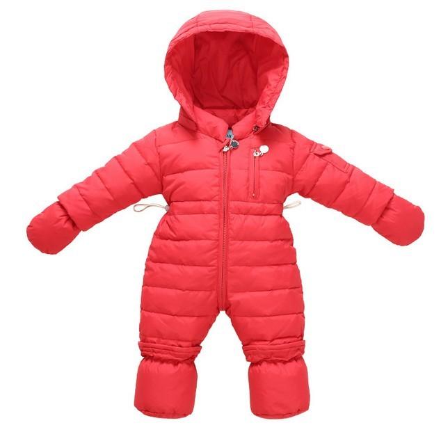 Novo bebê da menina do menino infantil outwear vestido novo bebê nascido fluff Macacão macacão terno de esqui roupas de Inverno Com Capuz outwear Criança