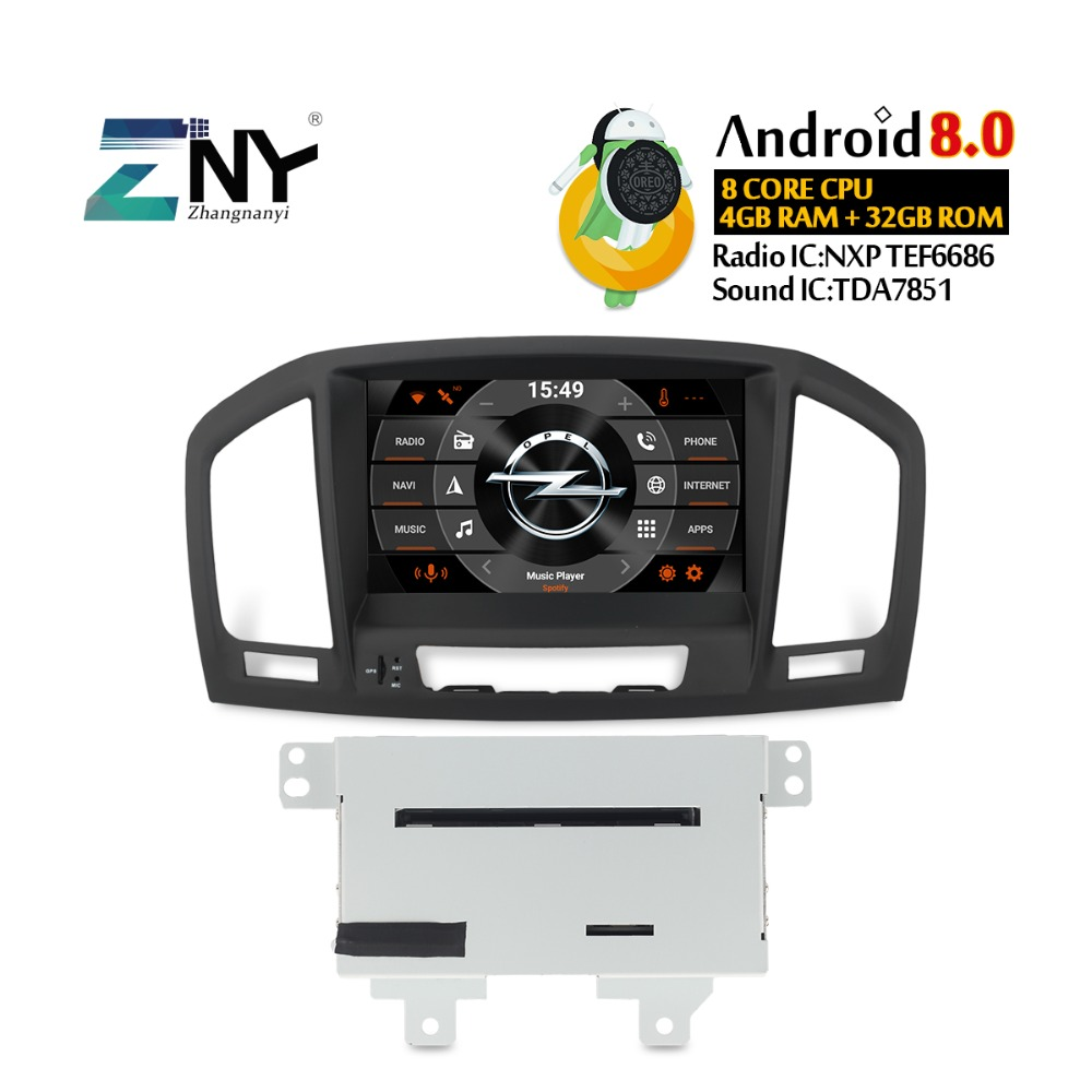 8 Auto Radio Android 8 0 For Opel Vauxhall Insignia CD300 CD400 2009 2010 2011 2012