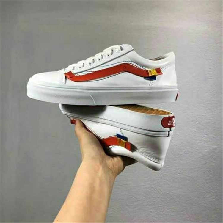fdebda2d2021 2018 off-white x vans oId skool Men and Womens Sneakers canvas Sports shoes  Weight