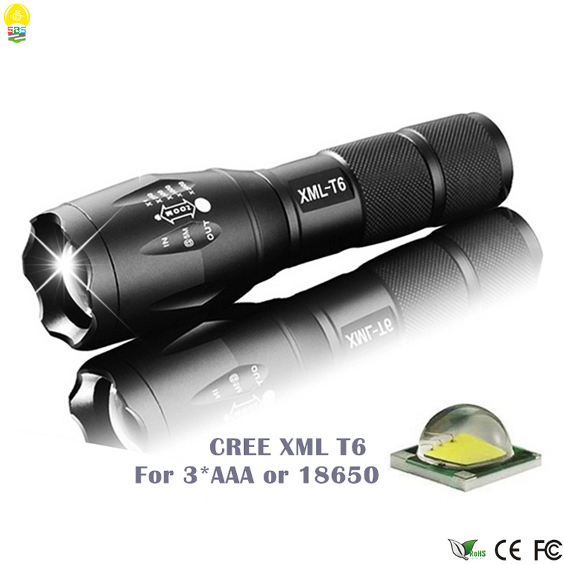 High Quality Waterproof Torch LED Flash Light Bicycle Mobile Lamp AAA 18650 Battery 2000LM XML T6 Flashlights for Hunting Riding 6000lumens bike bicycle light cree xml t6 led flashlight torch mount holder warning rear flash light