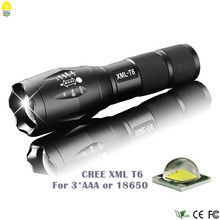High Quality Waterproof Torch LED Flash Light Bicycle Mobile Lamp AAA 18650 Battery 2000LM XML T6 Flashlights for Hunting Riding