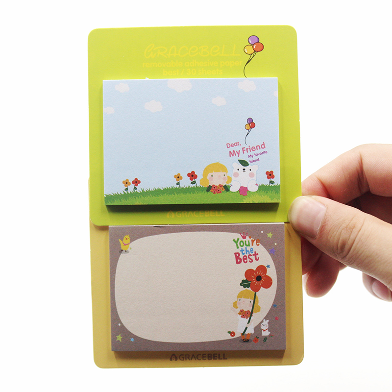 New Cute Kawaii Gracebell Girls Stationery Memo Pad Scrapbooking Sticky Notes Book Paper Sticker Bookmark Pepsi Stick