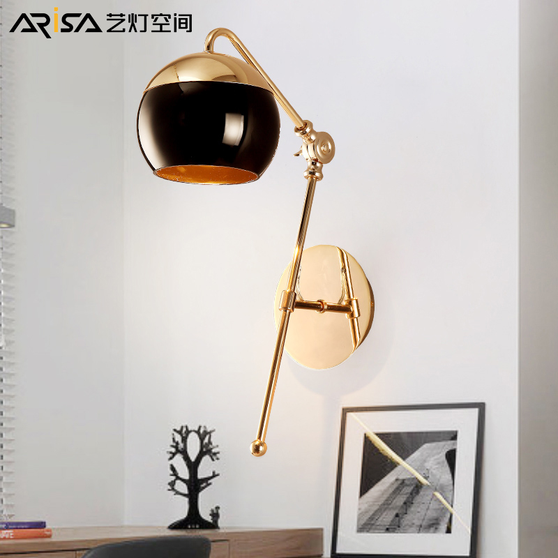 LED wall sconces Nordic Lighting Fixtures Modern simple living room wall lights aisle glass creative bedroom wall lamps