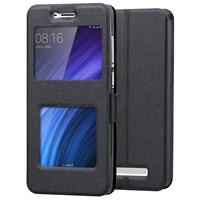 Xiaomi Redmi 4A Case Flip Open Window PU Leather Phone Case Capa For Xiaomi redmi 4A Cases Coque