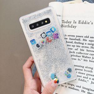 Image 2 - KISSCASE Glitter Liquid Quicksand Silicone Case For Samsung Galaxy S10 Plus App Icon Cover Coque For Samsung S10 Lite Case Funda