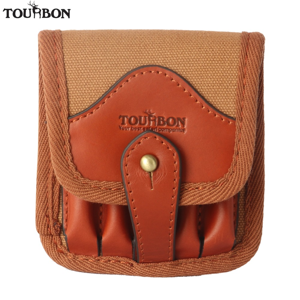 Tourbon Jagdwaffe Zubehör Tactical Munition Inhaber Canvas & Leder Patronen Shells Pouch Rifle Bullet Wallet Carrier
