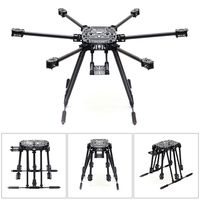 ZD850 Full Carbon Fiber Frame Kit with Unflodable Landing Gear Foldable Arm + 6 axle Hub Set for DIY FPV Aircraft Hexacopter