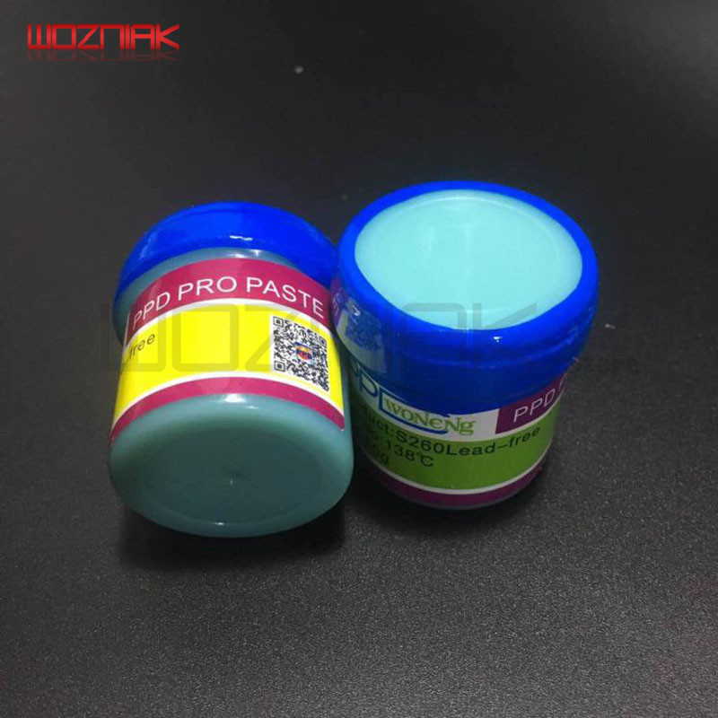 Wozniak Free Shipping PPD A8 A9 A10 BGA Chip Low Temperature SnBi Unleaded Solder Paste + Scraper Tin Paste Tin Plating Tool