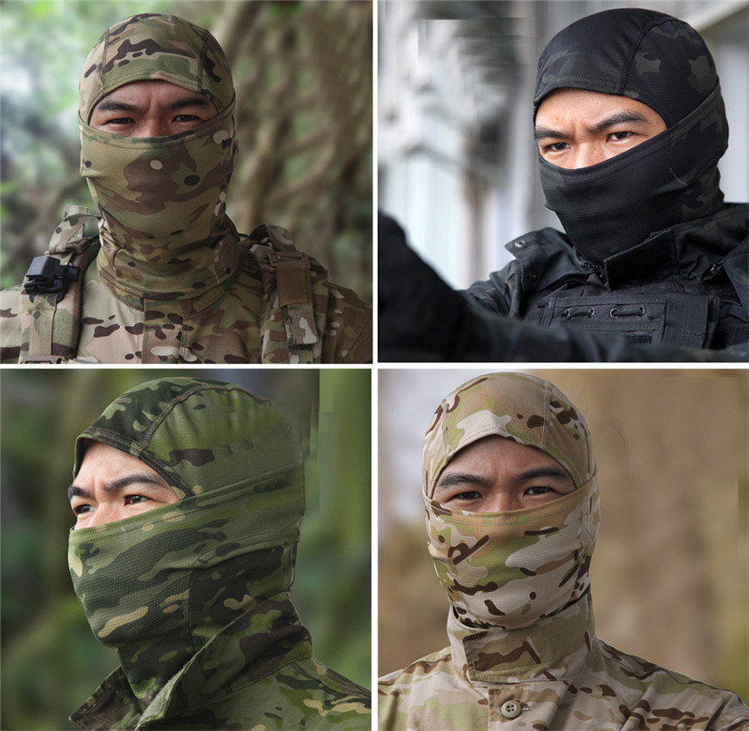 Camouflage Army Cycling Motorcycle Cap Balaclava Hats Full Face Mask Headgear For Outdoor Wargame CS Universal 2018#52 2016 promotion winter hat warm outdoor sport visor sun high quality cap with ears casquette motorcycle mask balaclava headgear