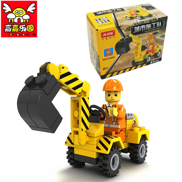 41pcs City Construction Bulldozer Building Car Bricks Blocks Compatible City Develop Toys Assemble Kids Birthday Gift