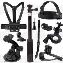 Para xiaomi yi/ion aire pro kit de accesorios para sony cámara de acción HDR AS15 AS20 AS200V AS30V AS50 AS100V AZ1 mini FDR-X1000V/W 4 k