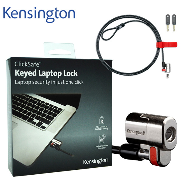 Kensington Original Anti theft ClickSafe Keyed Laptop Ultrabook Lock with 1.5m Security Cable Chain with Retail Package K64664