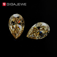 GIGAJEWE Wholesale Loose Yellow Color Moissanite Gem Stones 5*7mm 1.0ct Excellent Pear Cut for Ring and Necklace