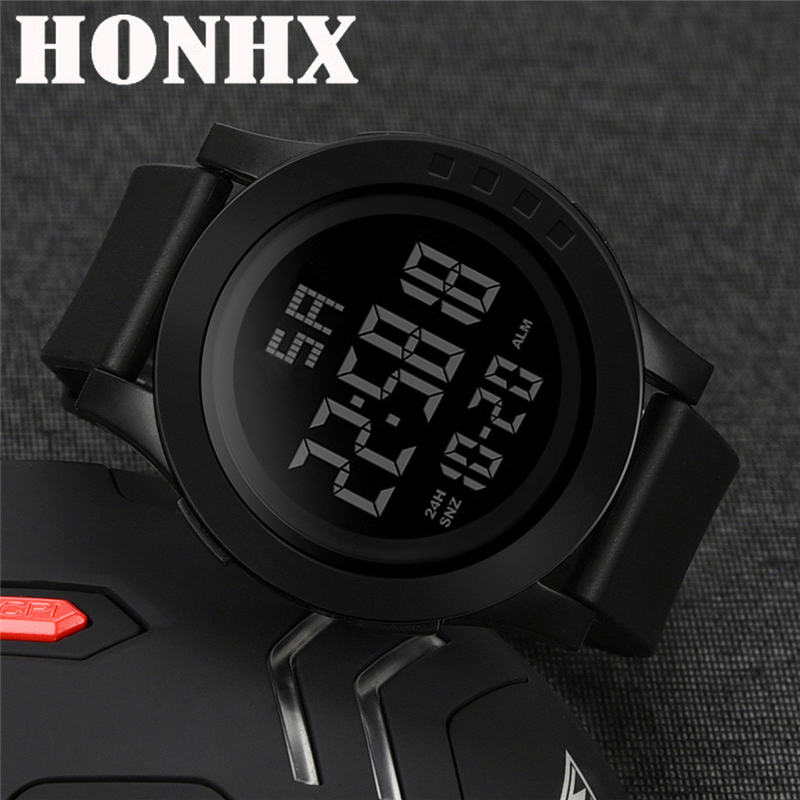 Fashion Digital Watch Mens LED Number Analog Alarm Date Sports Military Silicone Wrist Watch For Women Men Relogios Feminino