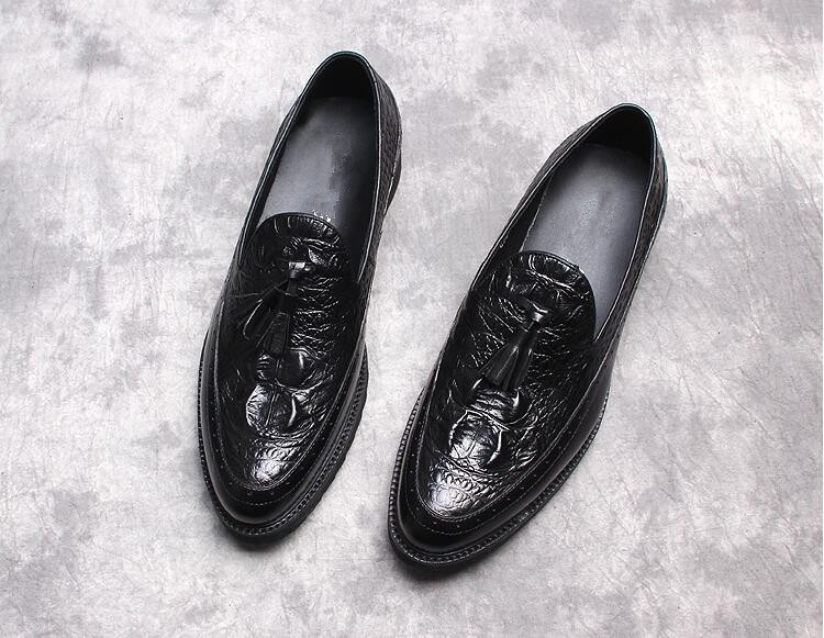 Handmade Moda Mujers Zapatos Derby Italiano Para Vestido Hombre 2 Amarillo Masculina Cuero Oxfords 2018 Primavera 1 Negro SROqwxznz6