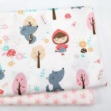 Хлопковая ткань с принтом для маленьких девочек, хлопковая саржевая Ткань для шитья, Лоскутная Ткань