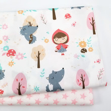 100% Cotton fabric Printed Baby Girl Cotton Twill Cloth  for DIY sewing patchwork cloth sheet fabric