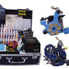 YLT-106 набор татуировки Полный инструмент татуировки оборудование 2 набор машин татуировки полная машина