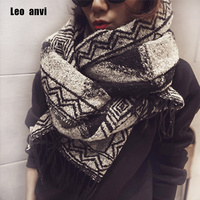 Fashion Printing Wine Red Scarf Winter Thicken Warm Shawls And Scarves For Women Cashmere Brand Scarf