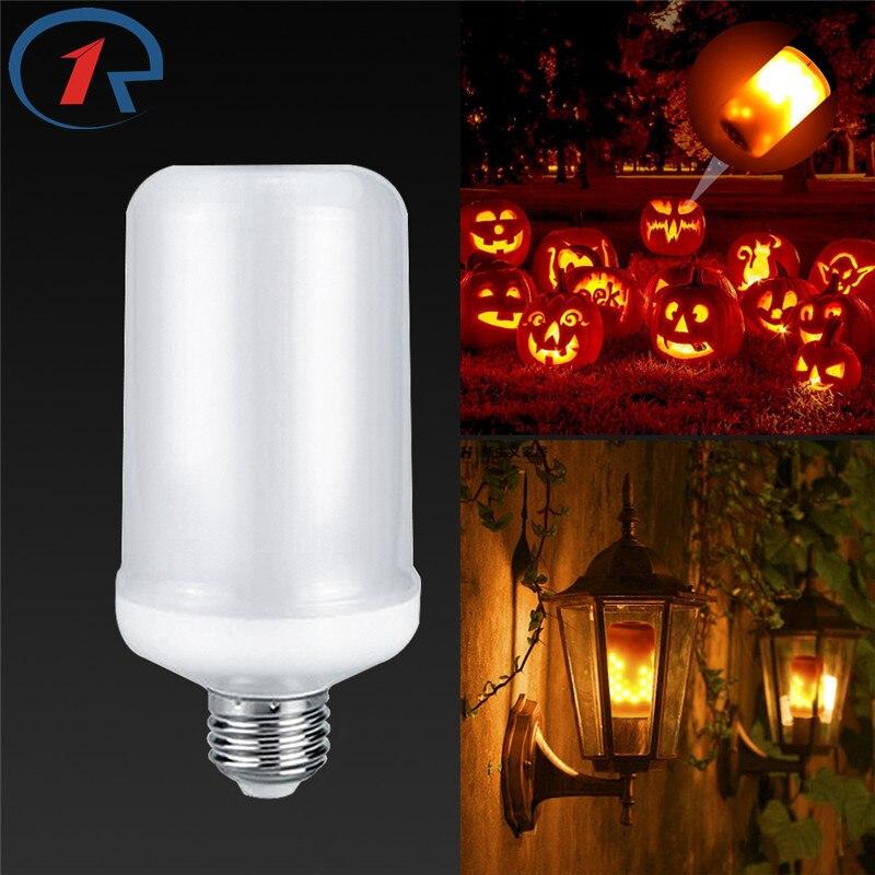 Zjright AC 85-265 В E27 6 Вт LED эффект пламени огня Лампочки уличные фонари пейзаж огни ...