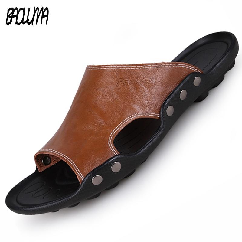 Aliexpresscom  Buy Summer Men Sandals Pu Leather Men -6340