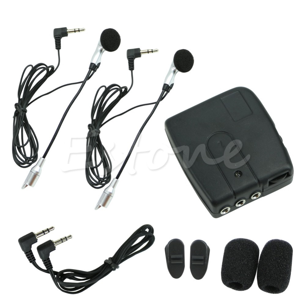 QILEJVS Moto Moto Casque 2-way Interphone Casque Communication Système