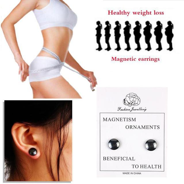 1pair Magnetic Slimming Earrings Slimming Patch Lose Weight Magnetic Health Jewelry Magnet Of Lazy Paste Slim Patch Accessory C4