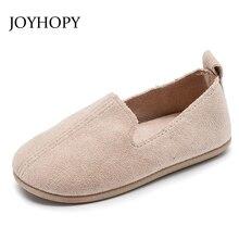 Новинка года; сезон весна-осень; обувь для девочек; Размеры 22-33; детское праздничное платье; однотонные замшевые туфли на плоской подошве для девочек