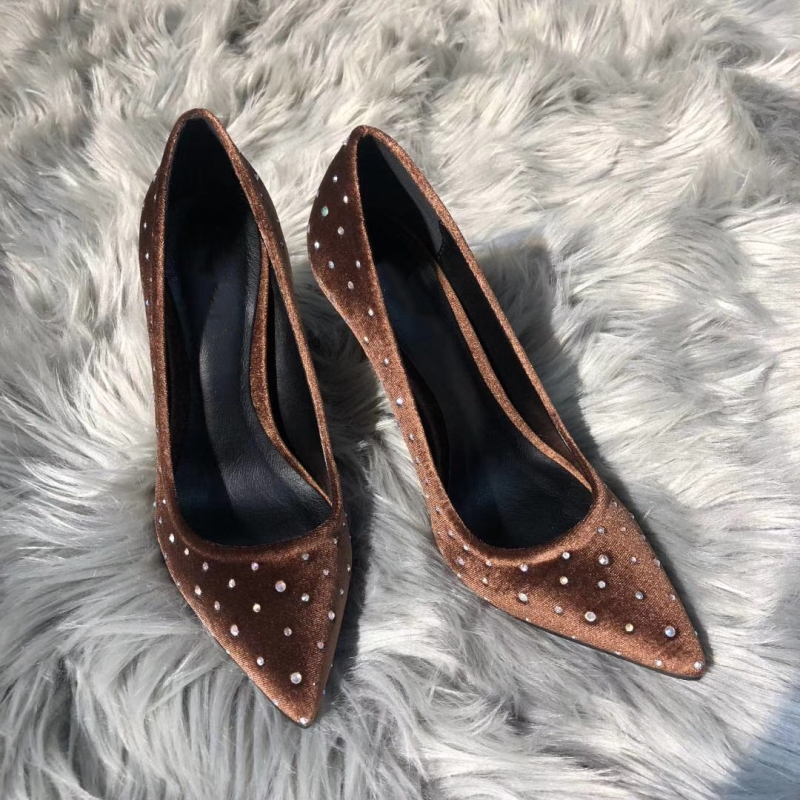 Femme Glissement Pic Pompes Escarpins Plates Cristal Hauts as Pointu Talons Mujer Décontractés Bout Chaussures As De Femmes Embelli Pic Dames Zapatos Sur Les t4nvq