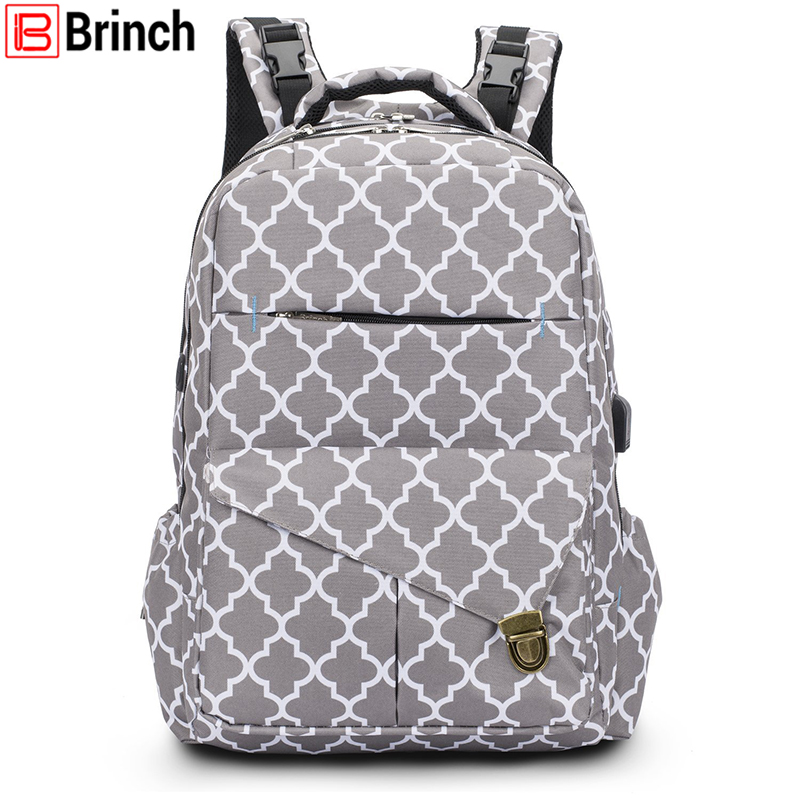 2018 New Arrival Fashion Baby Nappy Bag Backpack With USB Charging Port High Quality Diaper Bag Large Travel Bag For Baby Care new arrival sunveno fashion diaper bag backpack high capacity nappy bag baby travel backpack with insulation pocket