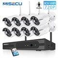 MISECU 8CH 1080 P HDMI WiFi NVR 8 PCS 1.0MP CCTV Wireless IP Kamera Audio IR Outdoor Wetter Sicherheit Überwachung system Kit
