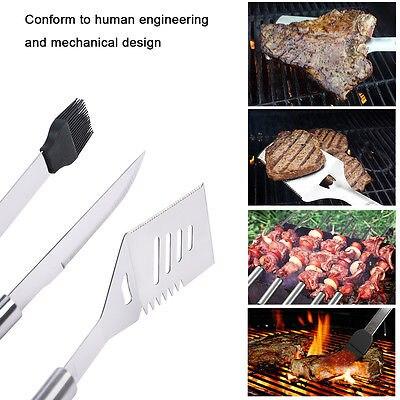 18 Uds de acero inoxidable BBQ herramientas populares accesorios Grill Brush agarre duradero - 4