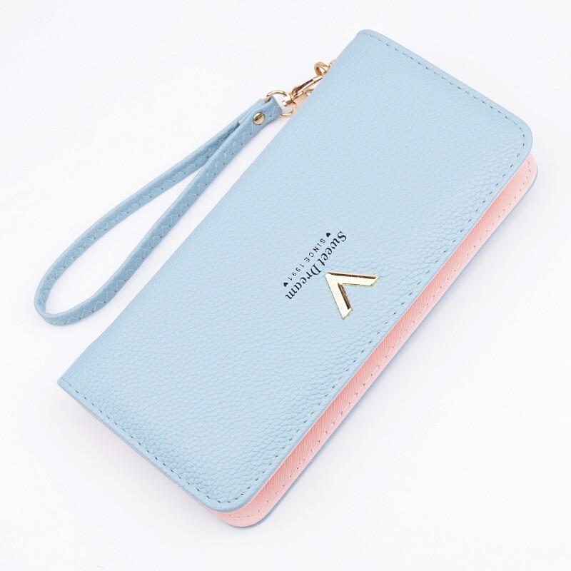 new designer fashion style genuine Leather+pu high quality wallet clutch purse