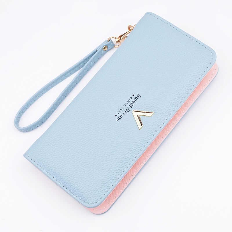 4c4767edad36 Brand Designer Wallet Women Purse Female Long Zipper PU Leather Coin ...