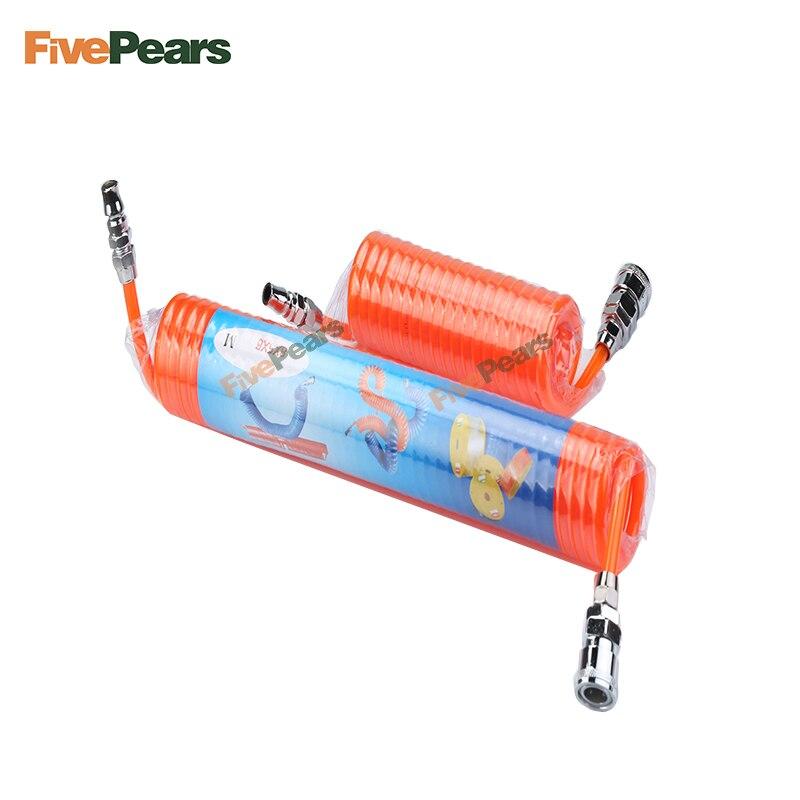 FREE SHIPPING FIVEPEARS 1pcs 3m/6m/9m/12m/15m Various Sizes Polyurethane PU Air Compressor Hose Tube for Compressor Air Tool akg pae5 m