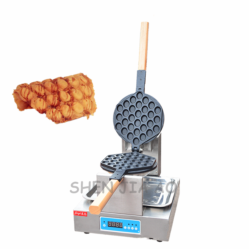 Commercial CNC egg waffle machine FY-6E electric hot stainless steel egg pancakes machine waffle egg makers 220V 1436W 1PC 2017 new design full automatic commercial snakes waffle making machine electric egg tarts baking machine price